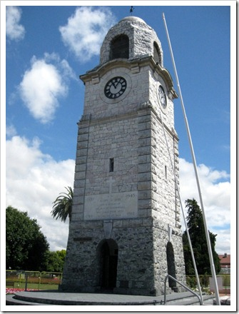 Marlborough War Memorial, Blenheim. Closed off due to earthquake risks.