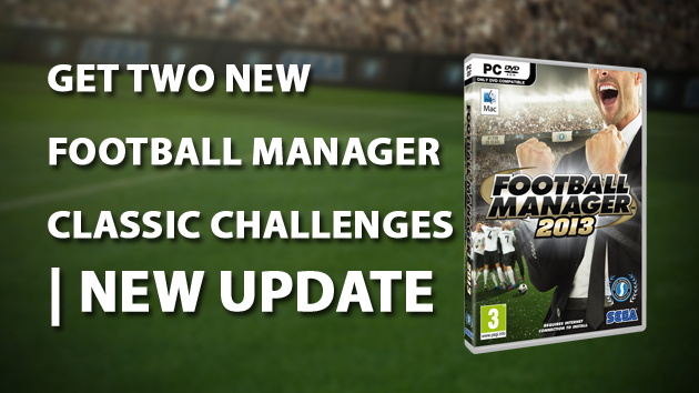 Get two new Football Manager Classic challenges New update
