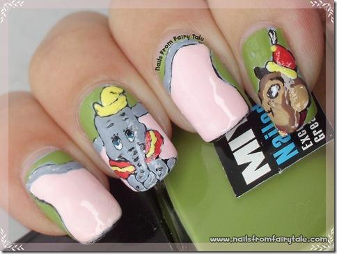 dumbo nail art 3