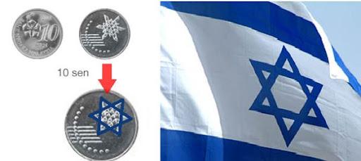 """Persoalannya, adakah """"Star of David"""" sengaja dicetak pada duit syiling"""