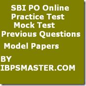 SBI  PO  Online Practice Test
