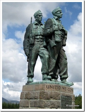 Spean Bridge and the Commando Memorial to those who died in WWII.