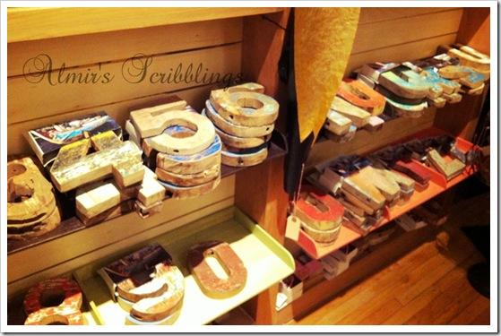 vintage wooden letters