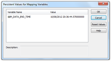 informatica mapping presistant value