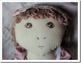 Close up of Cloth Doll Face