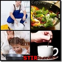 STIR- 4 Pics 1 Word Answers 3 Letters