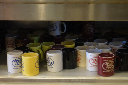 The cafe's eponymous mugs.