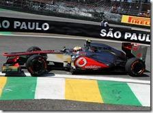 Hamilton nelle prove libere del gran premio del Brasile 2012