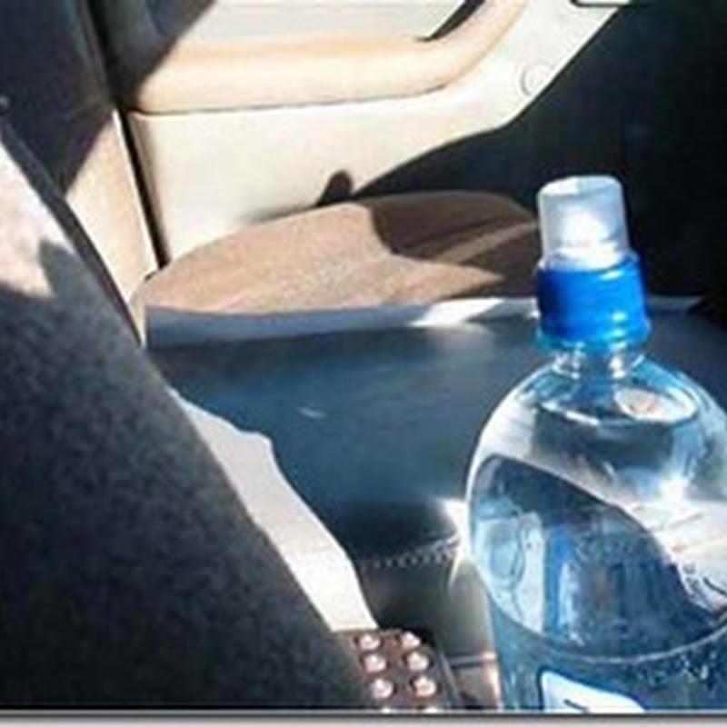 احذر. لا تشرب من زجاجة الماء المتروكة بالسيارة