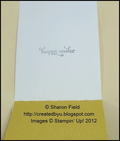 cas happy easter sentiment inside card