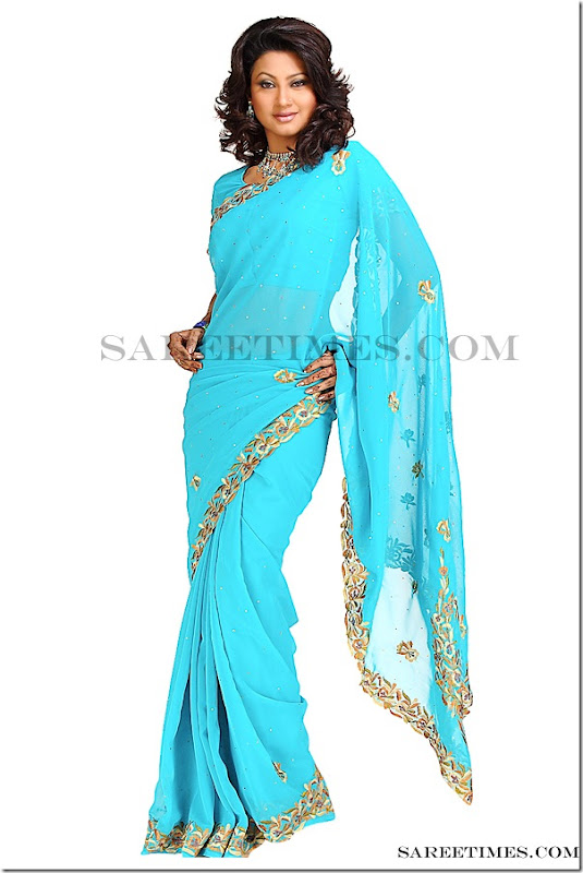 Nigar_Z_Khan_Blue_Saree
