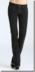 7 For All Mankind Black Stretch Velvet Jeans