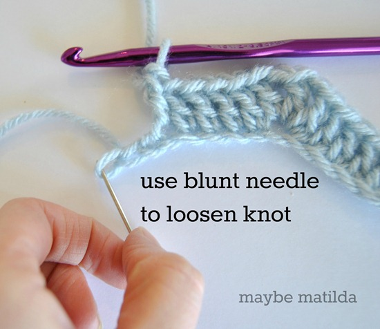 Getting rid of extra chains without frogging your crochet!