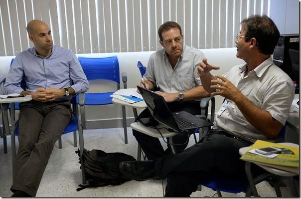 Luis Dias e Luis Loyola( Representantes da FAO) e Francisco Campelo (MMA)