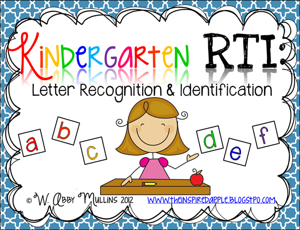 Kindergarten RTI Letter Identification Recognition The – Letter Recognition Worksheets for Kindergarten