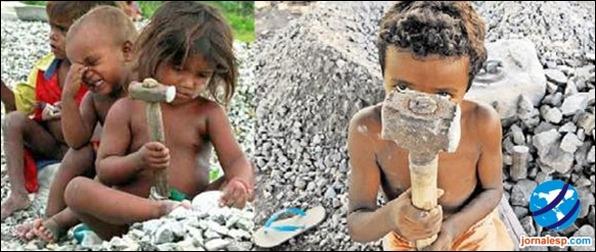 Crianças trabalhando