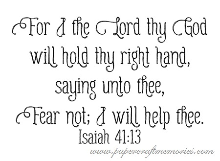 Isaiah 41:13 WORDart by Karen for WAW personal use