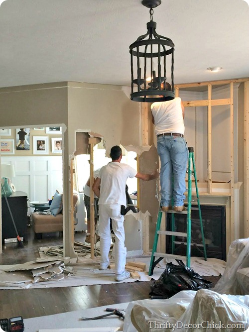 how to tear down a non loadbearing wall