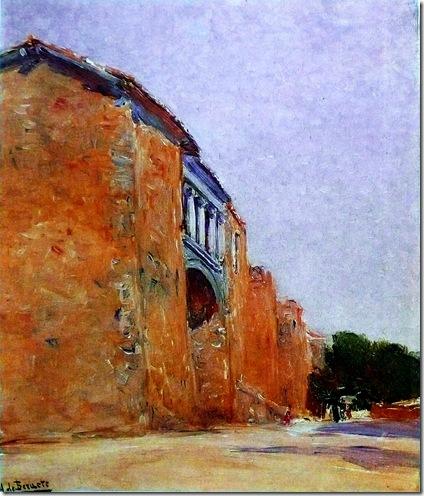 Aureliano de Beruete y Moret - Una puerta en las murallas de Ávila
