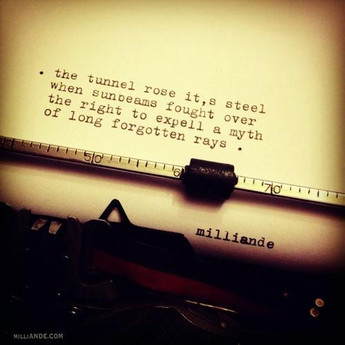 Typewriter spills poetic glimpses milliande 3