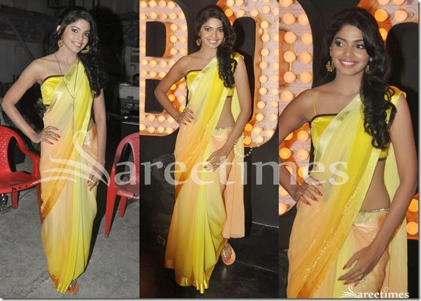 Dual_Color_Georgette_Saree
