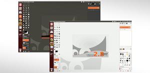 icone monocromatiche Flat in GIMP