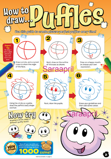 How To Draw A Puffle From Club Penguin Free Download   How to Draw