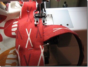 stitching over the handles