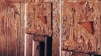 foguete e ovni em mural egipcio