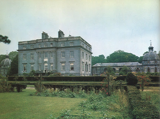 The handsome exterior of Castletown in County Kilkenny is built of dressed sandstone and very fine, unpolished Kilkenny marble.