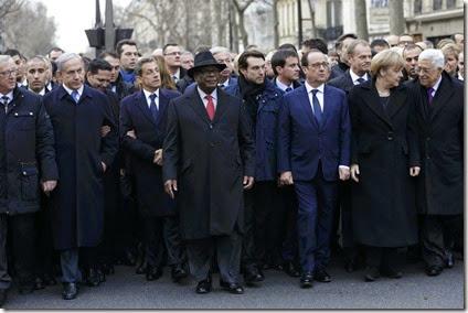 Marcha Lideres Mundiales Charlie Hebdo - Paris