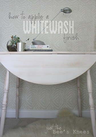 How To Apply A Whitewash Finish