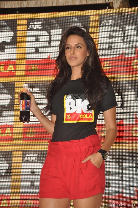 Neha Dhupia Hot Pics in Short Red Pants 10