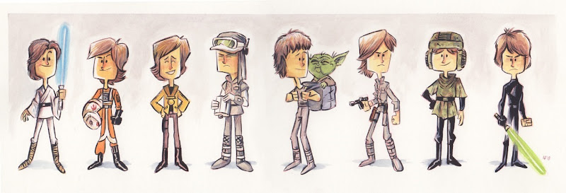 Evolution of Luke Skywalker