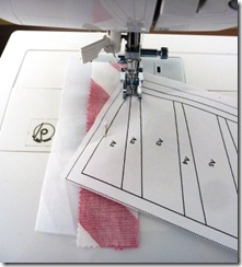11 Sew on the printed line