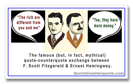 a comparison between two stories by f scott fitzgerald Read the curious case of benjamin button by author f scott fitzgerald, free, online (table of contents) this book and many more are available.