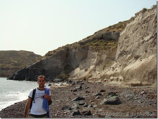 Red Beach Paredão de Pedra-Pomes Santorini Grécia