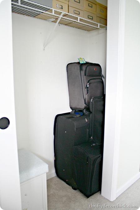 storing luggage