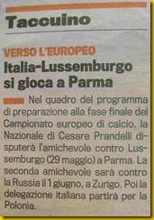 gaz sport 06 04 2012 italia lussemburgo