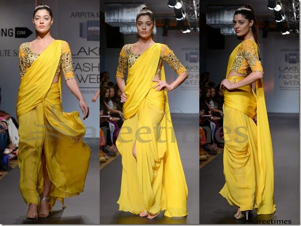 Arpita_Mehta_Yellow_Saree
