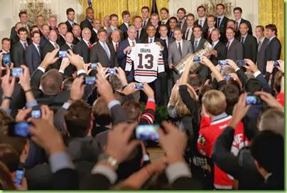 Barack Obama Barack Obama Welcomes NHL Champions 01U3MjZIVeFl