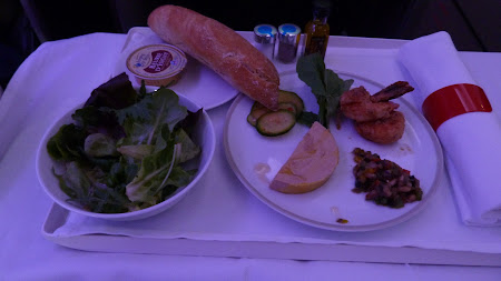 Airbus A380 Air France: aperitiv la bordul avionului