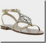 Steve Madden Gold Embellished Sandals