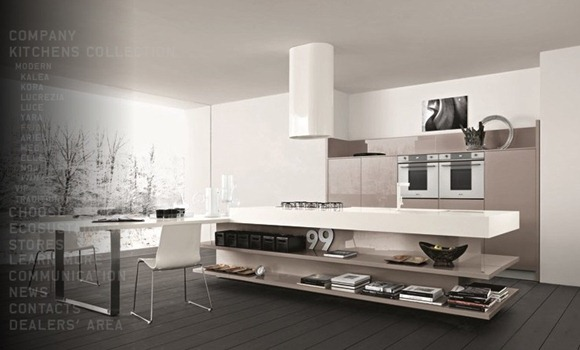 modernas cocinas en colores neutros