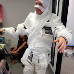 brent mummy during Halloween at Climax Media in Etobicoke, Ontario, Canada