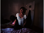 Vulnerable women of Sydney: Michelle Cloughessy, single mother. Two of her children have autism and her youngest daughter has a rare condition that causes severe seizures. <em>© Dean Sewell</em>