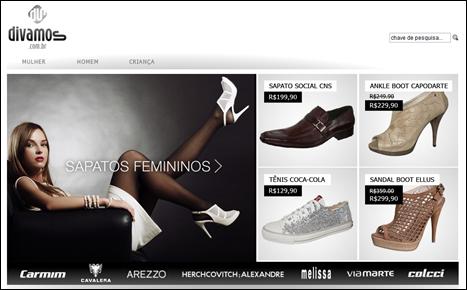 divamos loja virtual sapatos