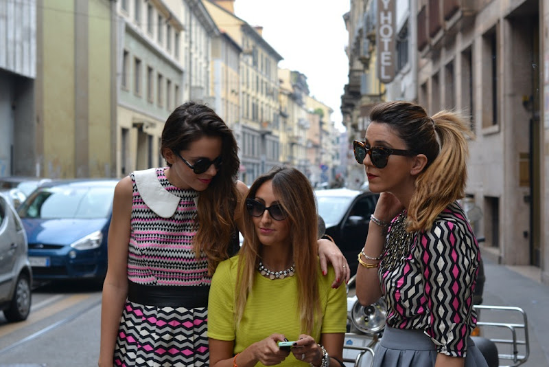 Nicoletta Reggio, Irene Colzi, Elisa Taviti, Milano Fashion Week, Street Style, Irene's Closet, Scent Of Obsession, My Fantbulous World