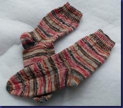 179 Socken für mich mit kleinem Zopfmuster - Kopie