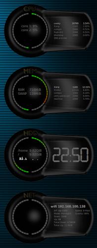 Conky 10-2 cores - Cores Conky  su Linux